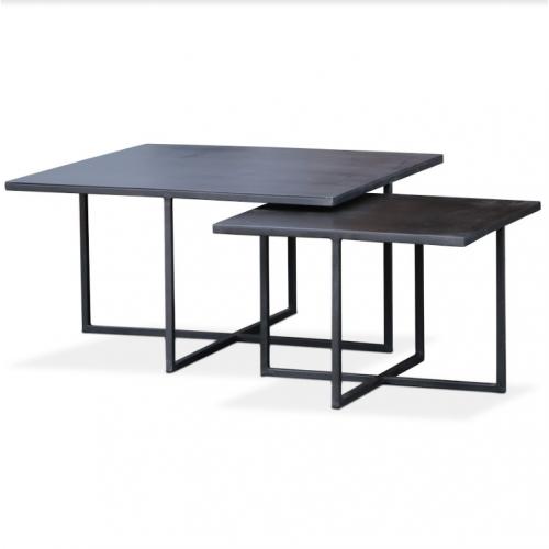 Bijzettafel Zwart Vierkant.Volt Salontafel Metaal 70x70cm Tafels Zen Lifestyle In