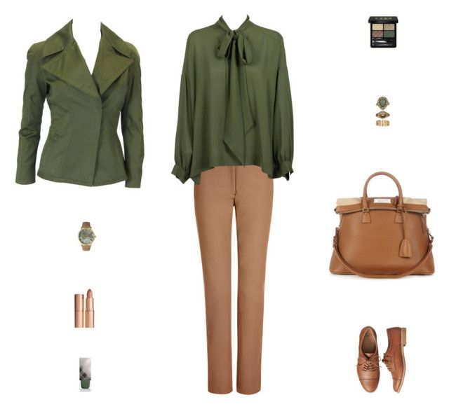 """Contest: Olive & Brown Outfit"" by billsacred ❤ liked on Polyvore featuring Joseph, Balenciaga, Gap, Tom Ford, Maison Margiela, Olivia Pratt, Accessorize, Gucci, Burberry and Charlotte Tilbury"