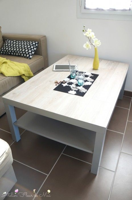 Upcycling table basse ikea lack atelier fleur de mai upcycling home decor decor et ikea - Ikea table basse lack ...