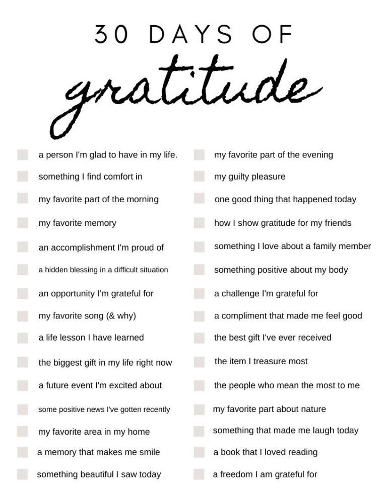 30 Days of Gratitude: Journal Prompts to Get You S