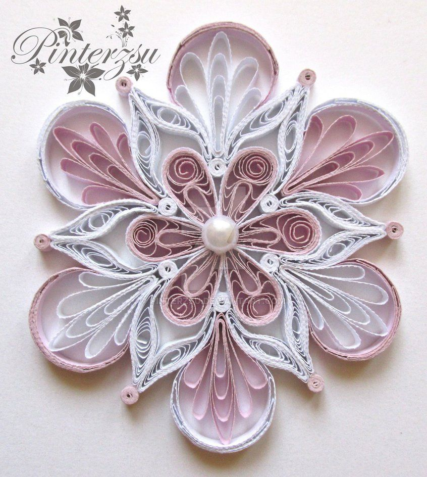 Quilled snowflake by pinterzsu on deviantart quilling for Paper quilling designs