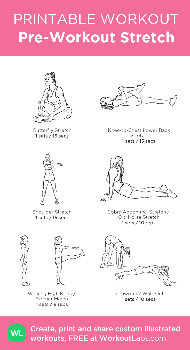 Candid image within printable stretching routine