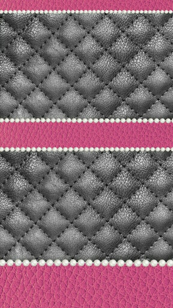 pink grey quilted pearls madebyniki Cellphone