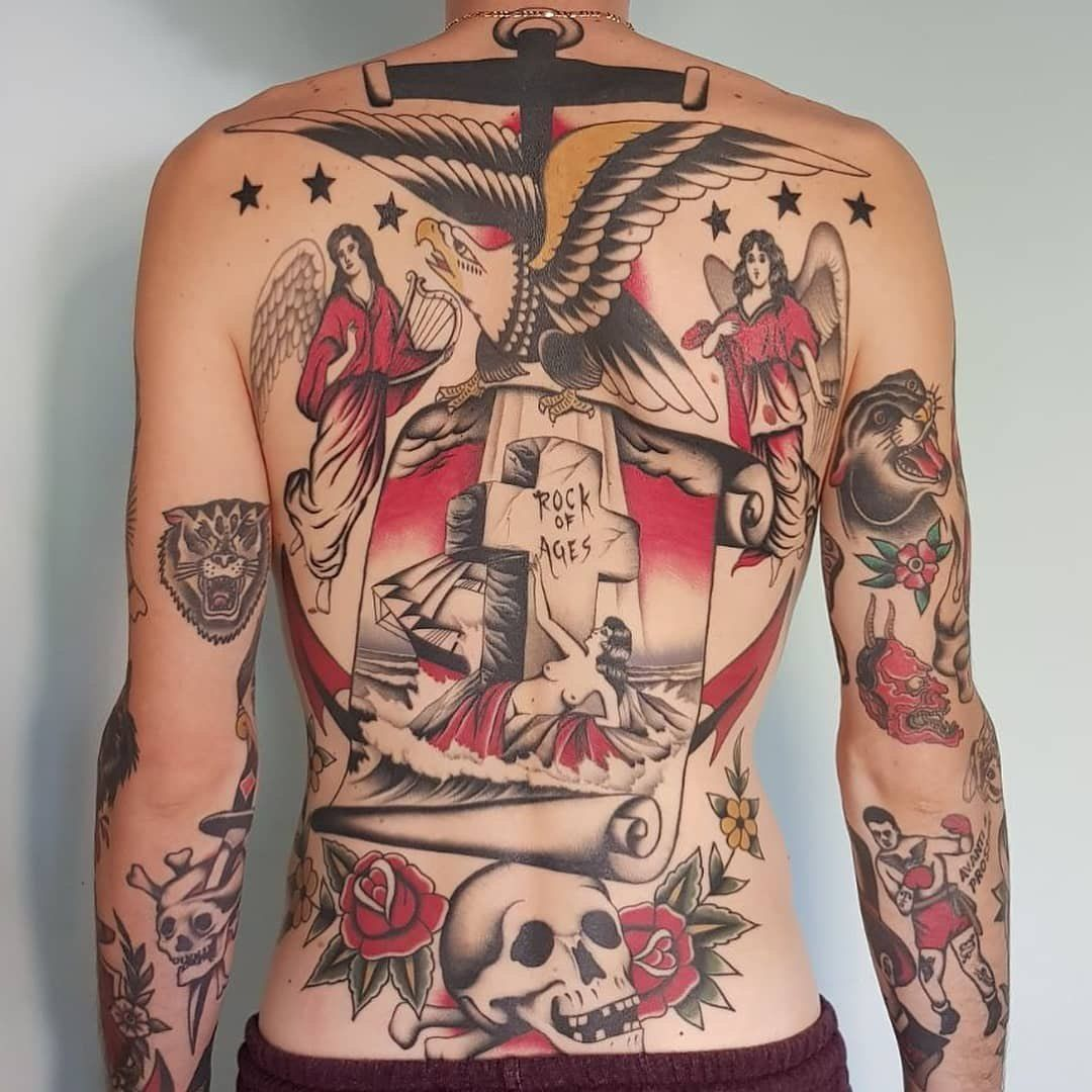 Back tattoo by stizzo stizzo_bestoftimes from milan