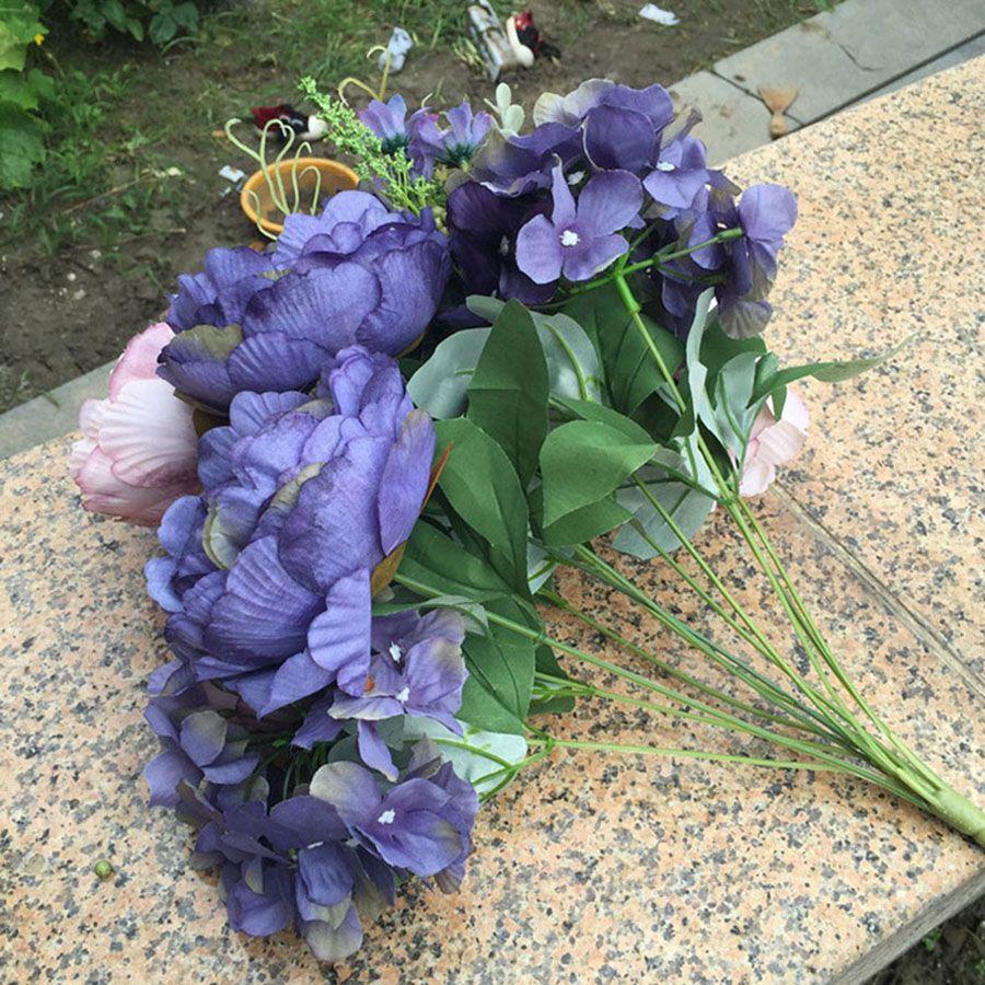 Artificial Flowers Peony Wedding Decoration Plastic Home Decor