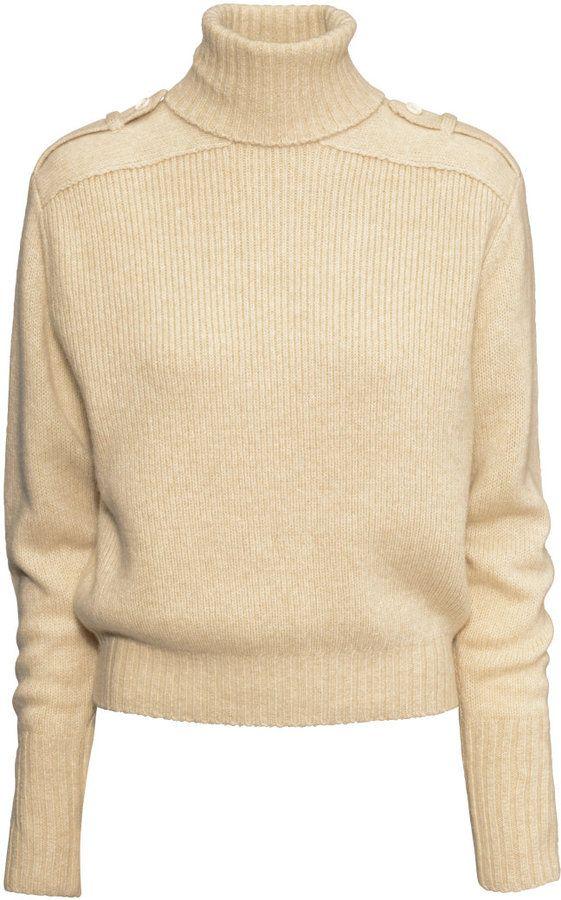cc34efe40cd1 H&M Wool-blend Turtleneck Sweater - Light beige - Ladies on shopstyle.com