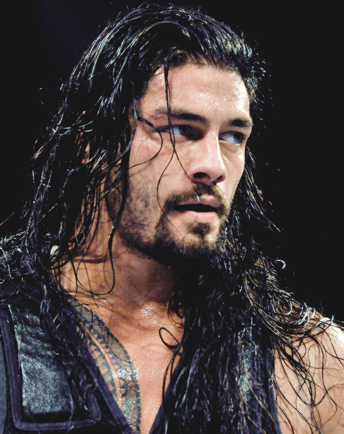 Roman Reigns - love this messy curly hair...!!!