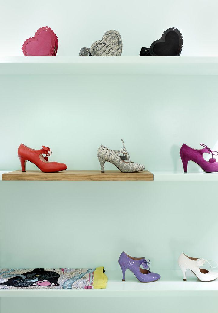 Minna Parikka flagship store by Joanna Laajisto Creative Studio, Helsinki shoes