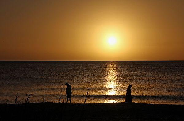 Sunset Stroll by Debbie Oppermann | Sunset, Fine art ...