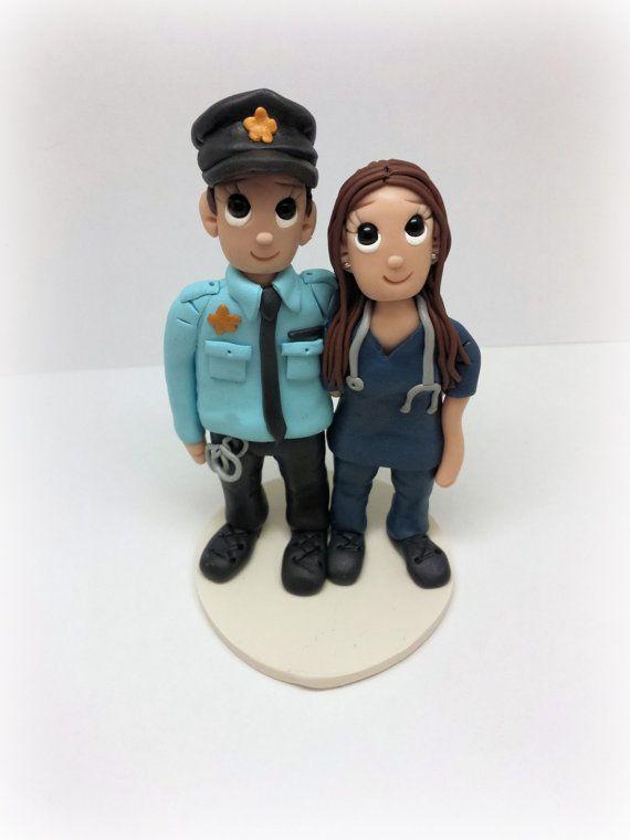 Custom Cop, Police Man, Police Officer and Nurse, Doctor Wedding ...