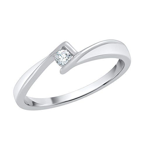 G-H,I2-I3 1//10 cttw, 3 Diamond Promise Ring in 10K Yellow Gold Size-4