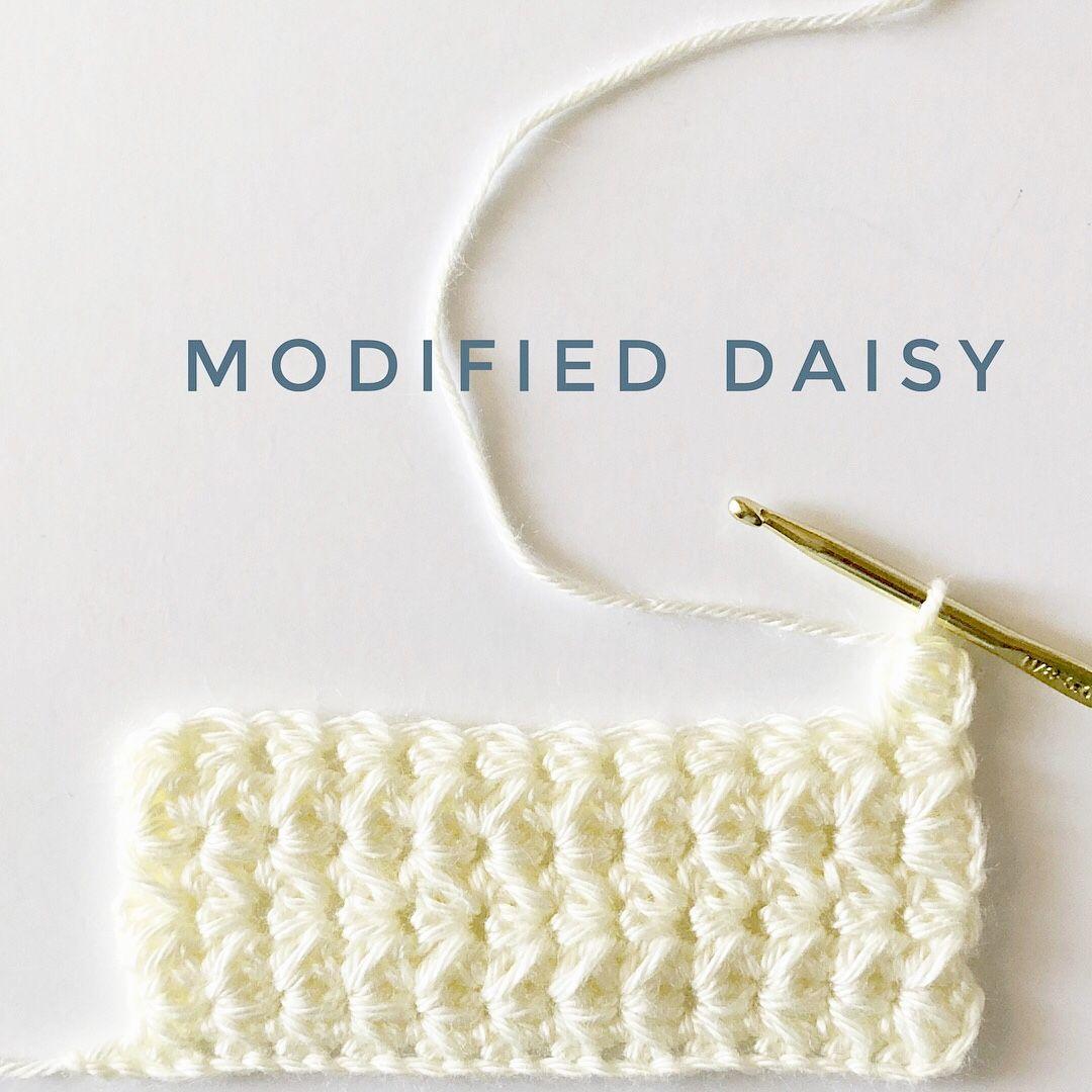 Crochet Modified Daisy Stitch | Daisy Farm Crafts | Yarn Projects ...