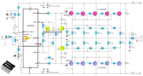 High End Power Amplifier Lme49810 2sc5200 2sa1943 Circuit Diagram