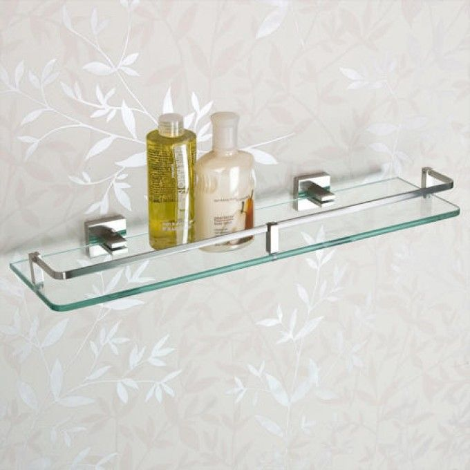 Albury Tempered Glass Shelf | Tempered glass shelves, Glass shelves ...