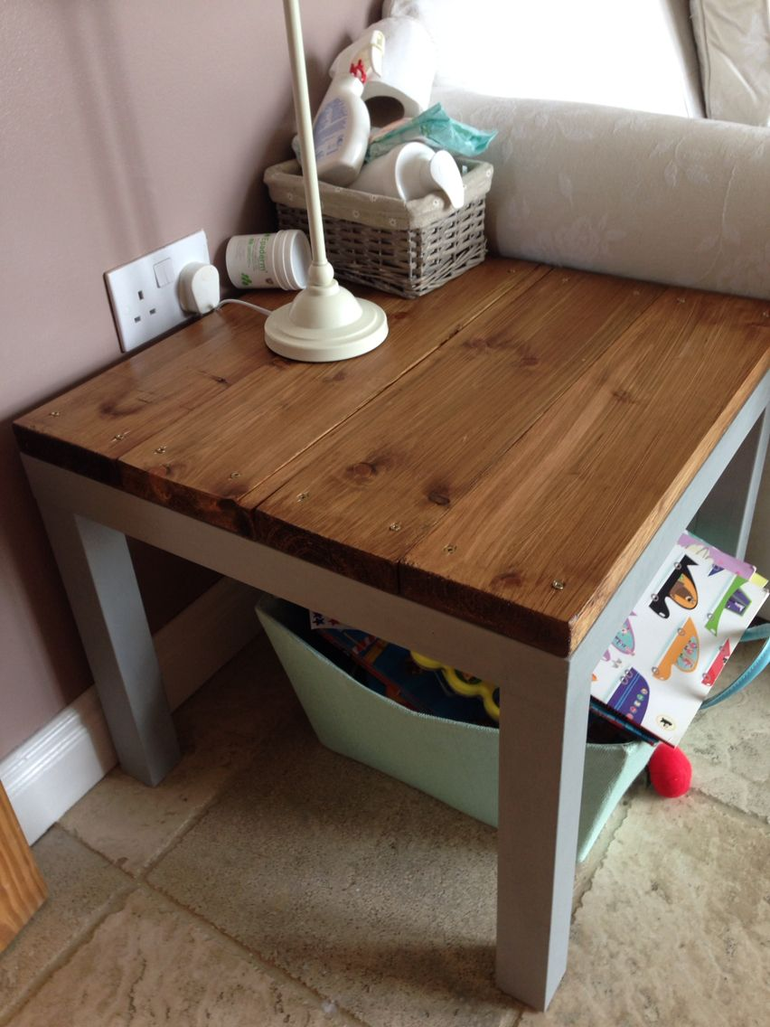 Ikea Hack Annie Sloan Paint Lack Table Upcycle Ikea Lack