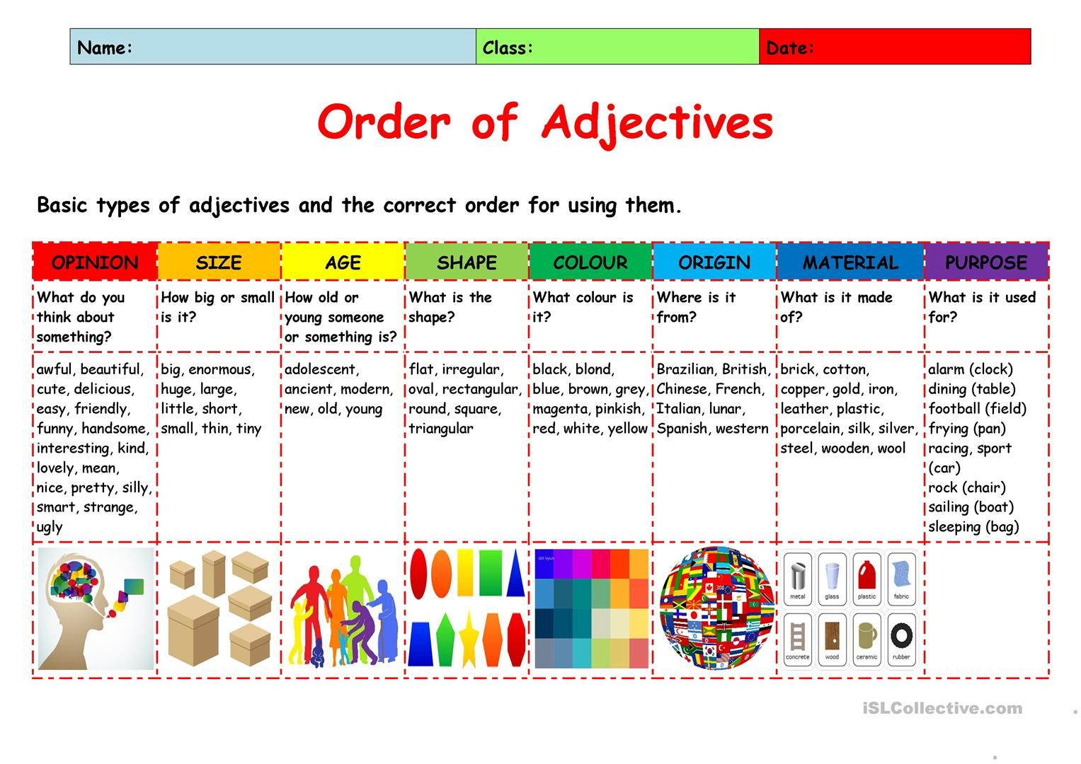 Order Of Adjectives Explanation
