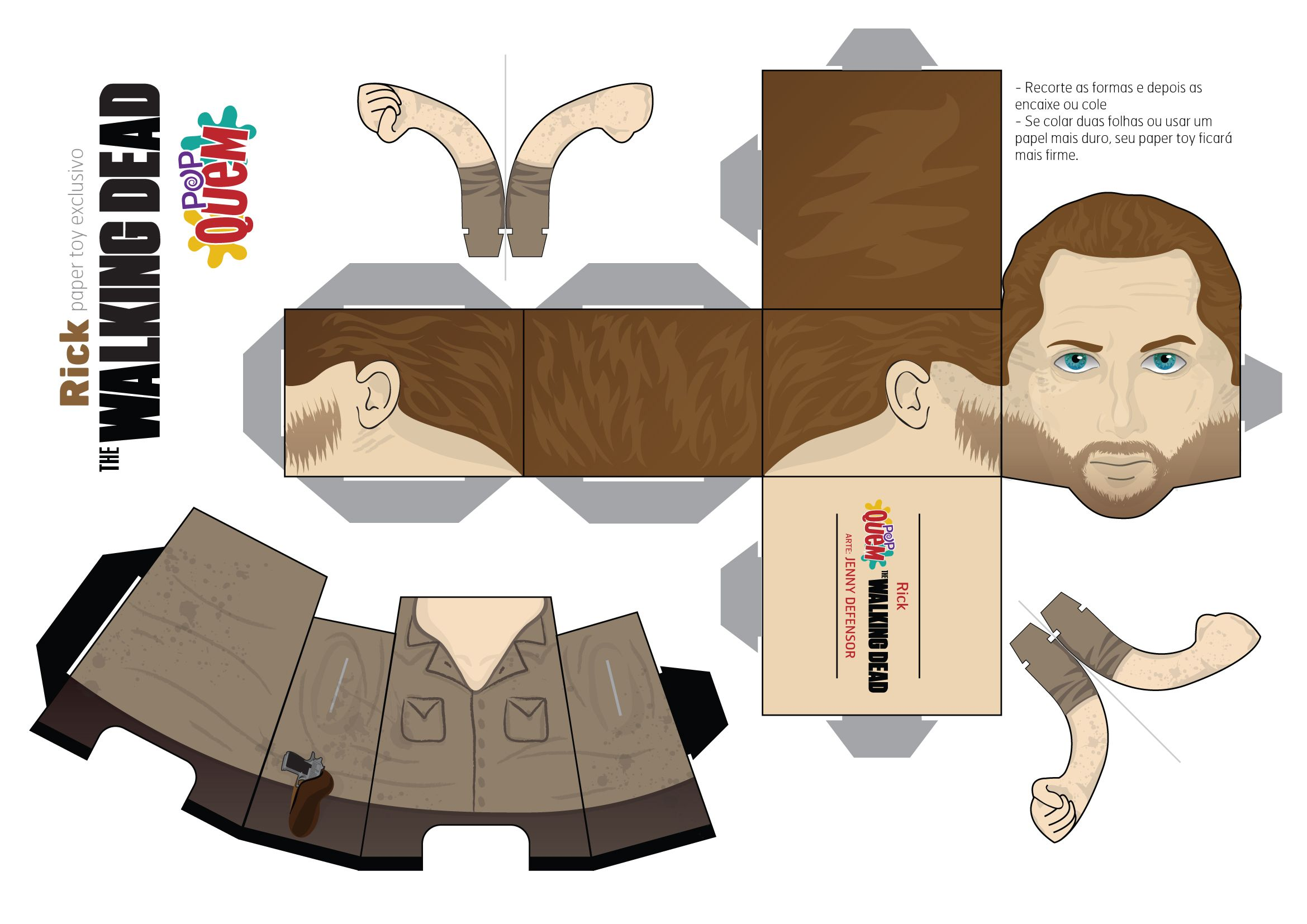 Rick Paper Toy The Walking Dead Paper Toys Pinterest