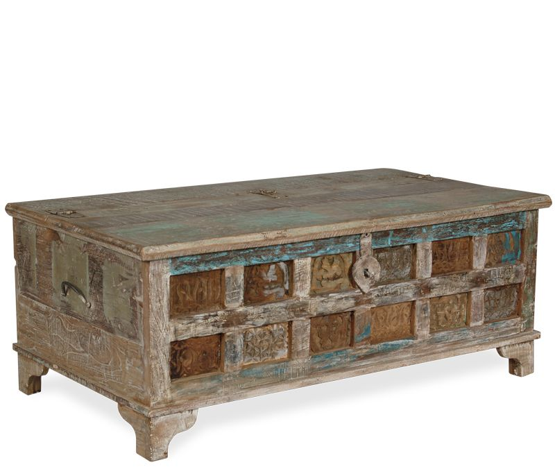 Boston Interiors Rustic Zahara Trunk, perfect for a coffee table or for storage at the end of a bed!