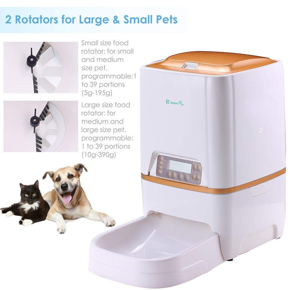 Belopezz 6liters smart pet automatic feeders for dog and