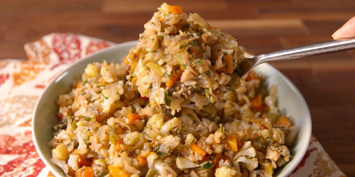 Best Ever Cauliflower Stuffing Recipe Stuffing Recipes Low