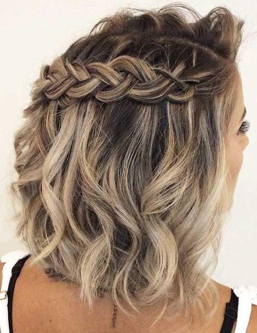 Fascinating Half Braided Medium Hairstyles To Look Beautiful And