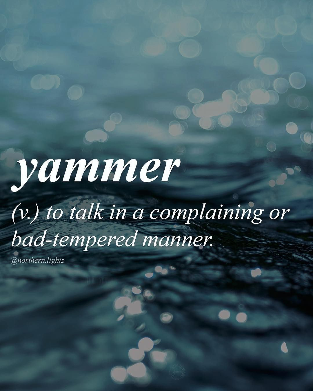 English //yam-er// | word explanations | Writing words, Rare words y