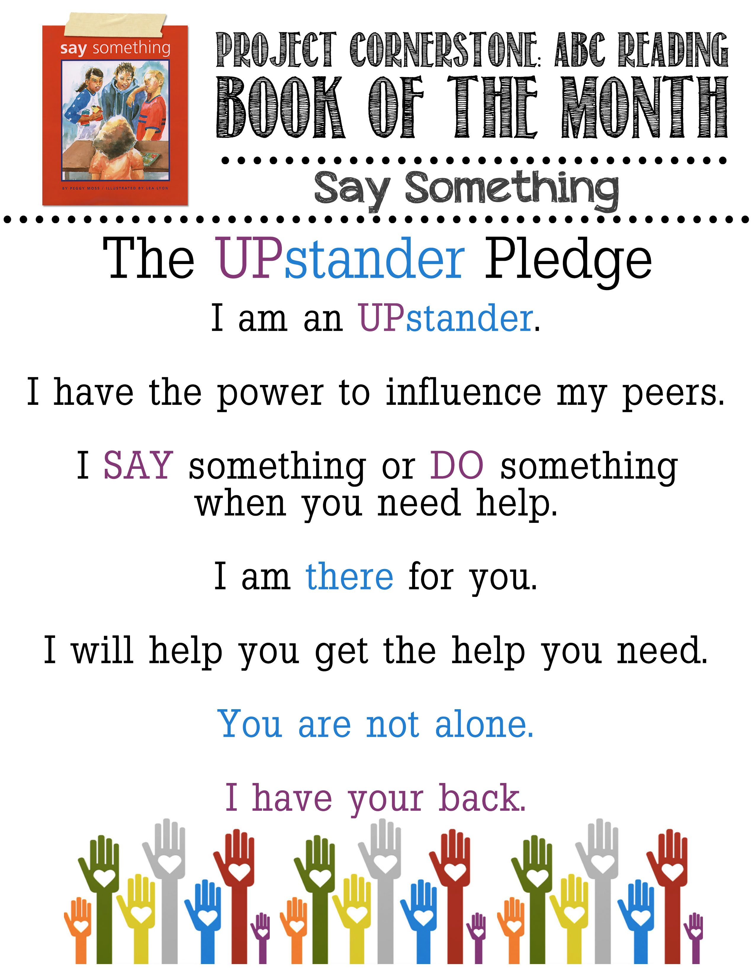 The Upstander Pledge For Say Something