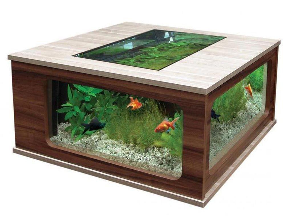 Amazing Aquarium Feature Coffee Table Design Ideas45 Decoration Appartement Table Basse Aquarium Decoration