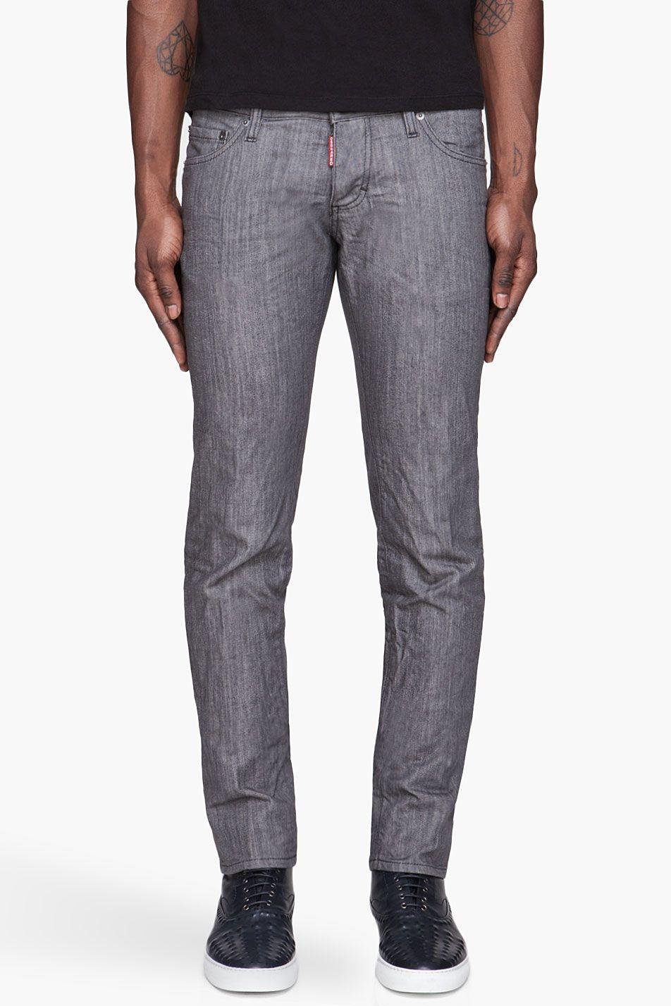 DSQUARED2 Grey 10oz. slim jeans