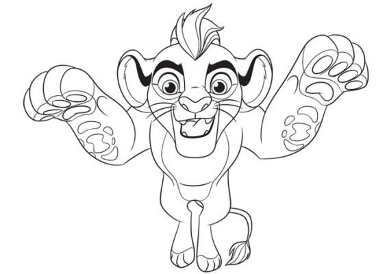 Fuli Lion Guard Kion Coloring Disney Coloring Pages Coloring