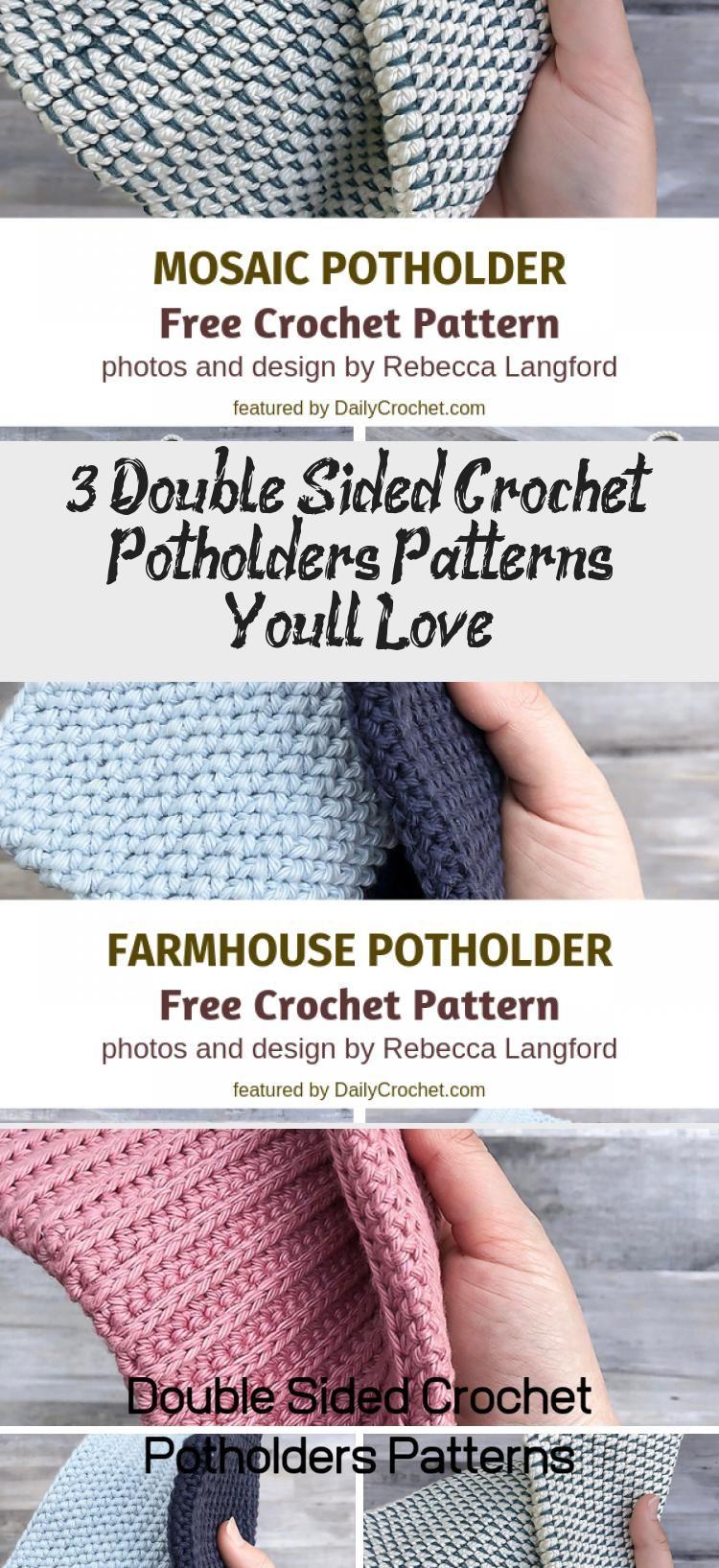 3 Double Sided Crochet Potholders Patterns You'll Love   Crochet ...