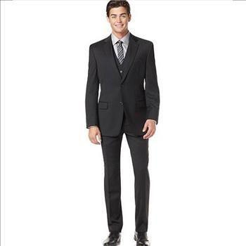 Alfani Men's Black Solid 2 Pieces Suit. Size 44L - 38W/26L. Retail $495 | Property Room