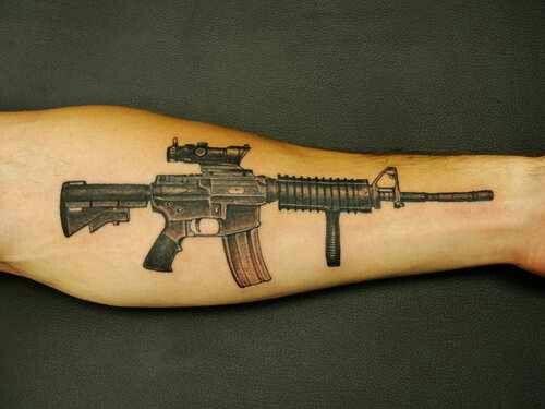 ar 15 m16 tattoo art tattoos pinterest tattoo and tatting rh pinterest com m16 tattoo outline m16 tattoo designs