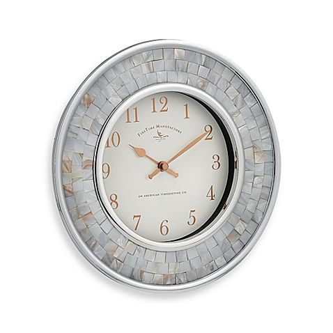 FirsTime® Pearl Mosaic 10 1/4 Inch Wall Clock