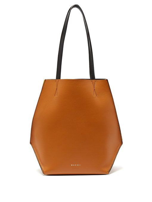 Buy Cheap Authentic Marni Tangram small leather shopping bag Looking For Cheap Price Clearance 2018 Unisex Discount Pre Order Buy Cheap From China MtF1ln