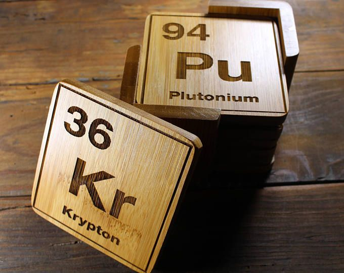 periodic table coasters elements chemist gifts science decor scientific art professor - Periodic Table Of Elements Gifts