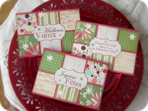 clean and simple christmas scrapbooking cards with my own printable labels cartes scrap. Black Bedroom Furniture Sets. Home Design Ideas