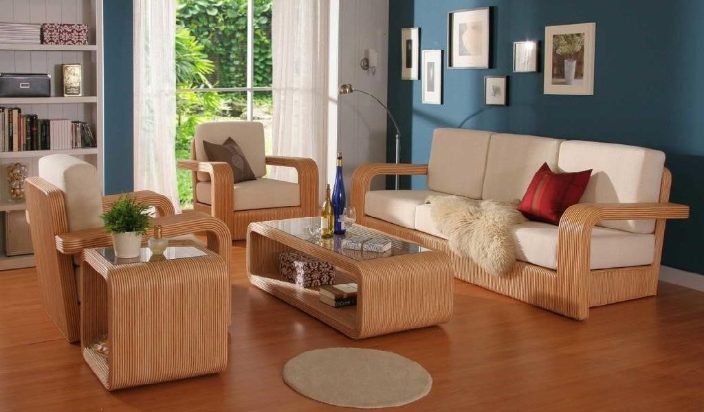 Interior Design Drawing Room Sofa Set Simple Wooden Sofa Set