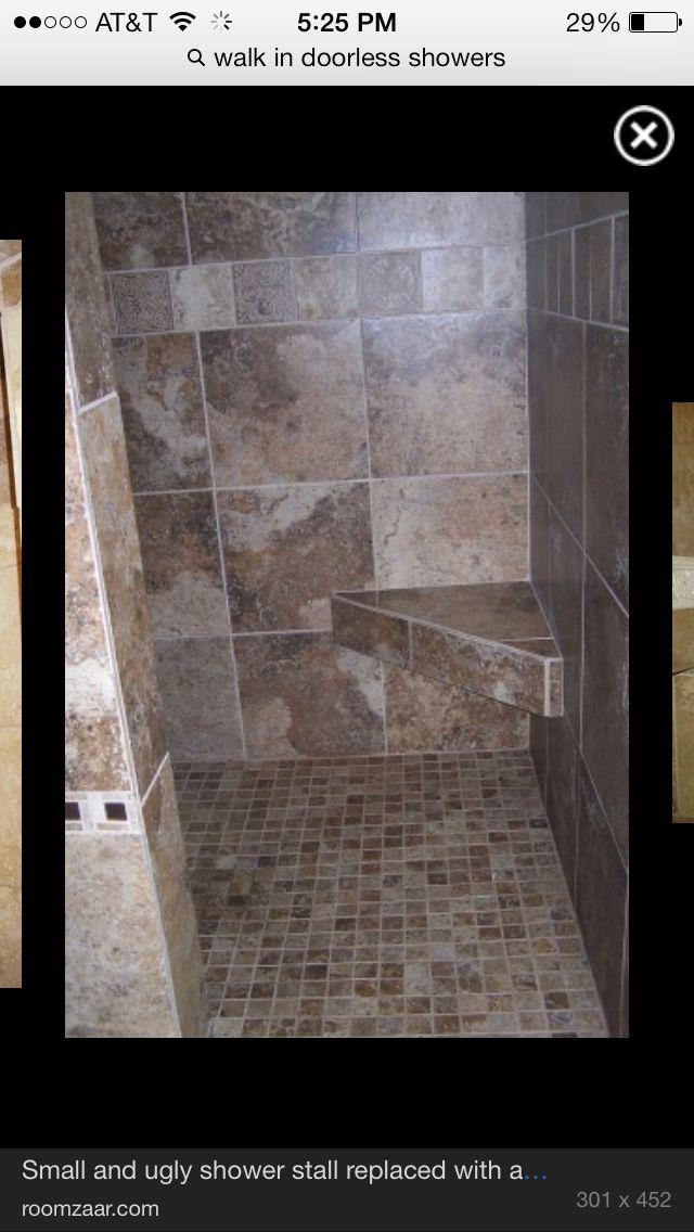 Walk In Wrap Around Doorless Shower Love Small Shower Stalls Shower Stall Doorless Shower