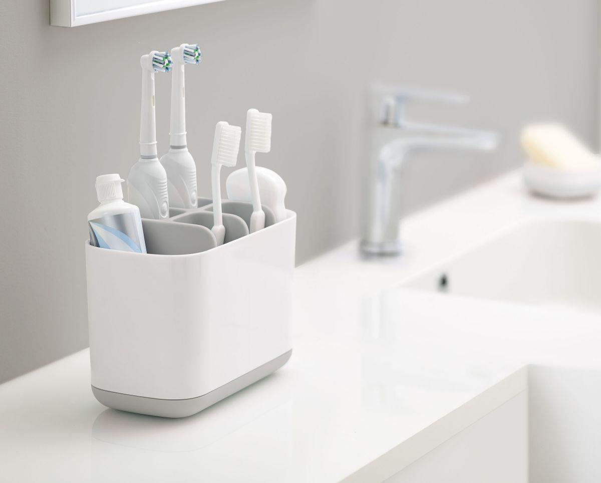 mDesign Decorative Bathroom Dental Storage Organizer Holder Stand for Electric S
