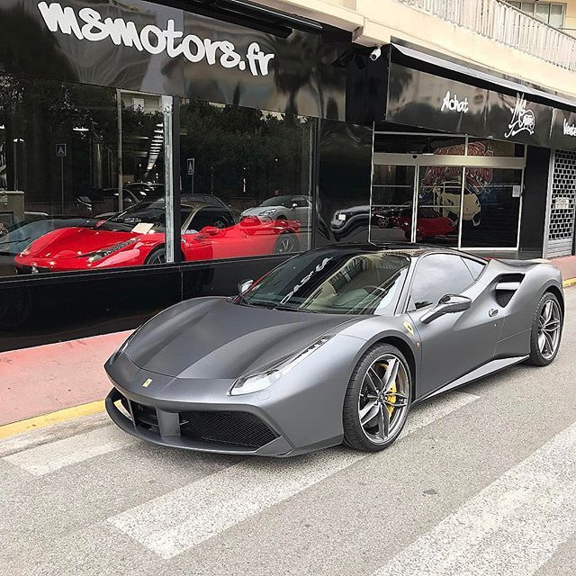 cb19112dc3 Instagram media by msmotors - New in Stock  Matte Grey Ferrari 488 For more  info check our website www.msmotors.fr -  msmotors