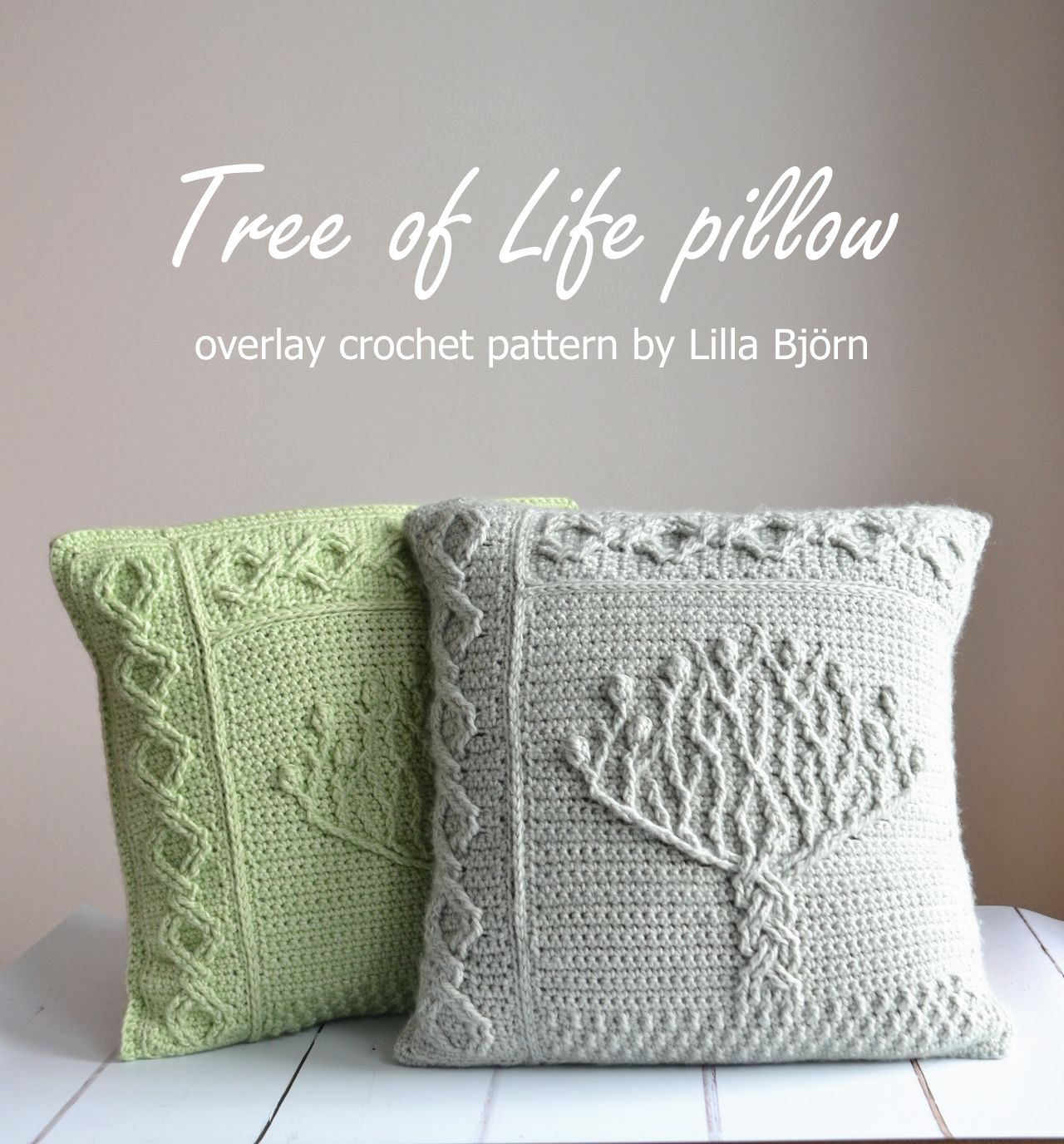 Tree Of Life Pillow New Overlay Crochet Pattern