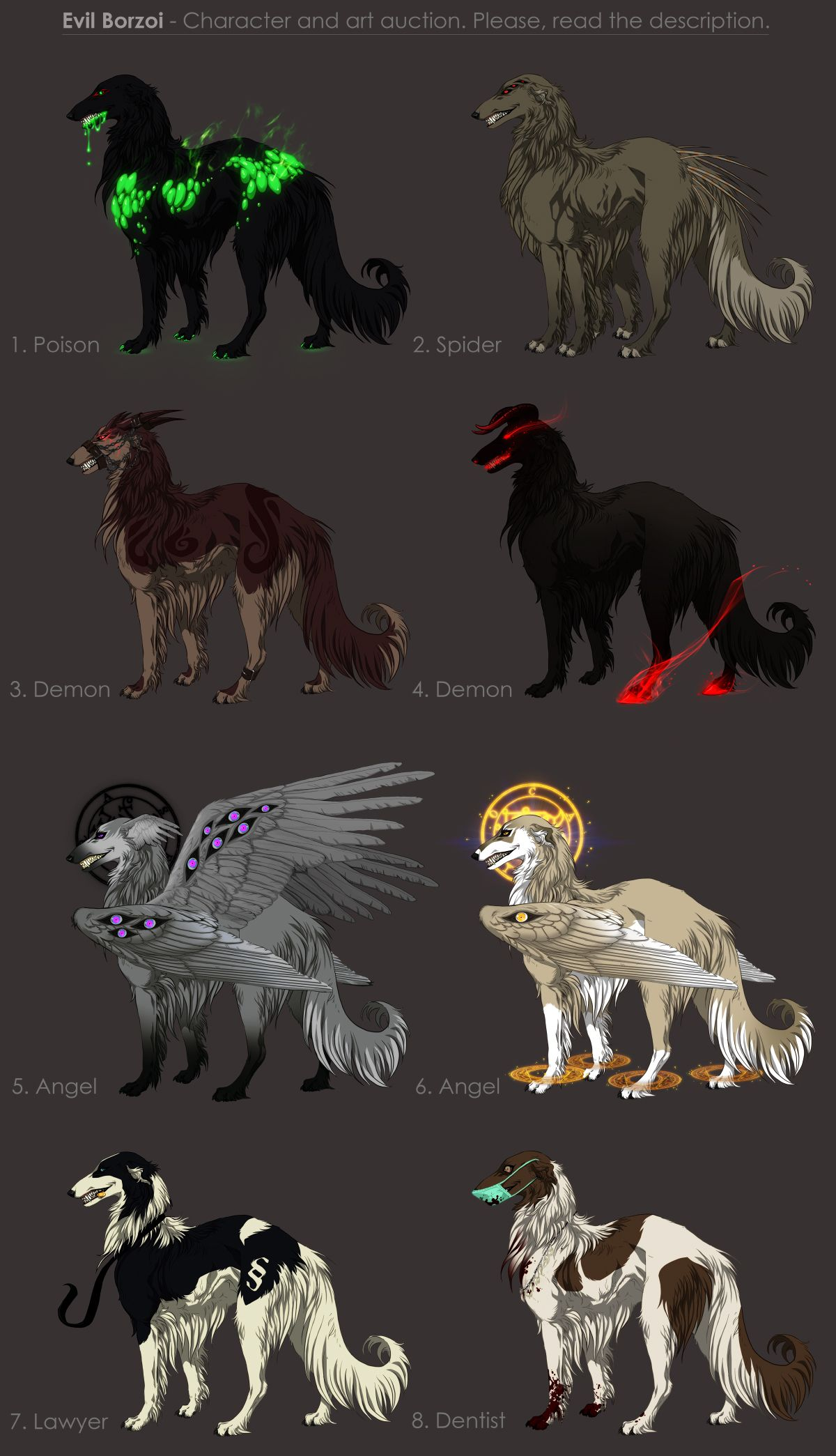 evil mythical creatures to write about