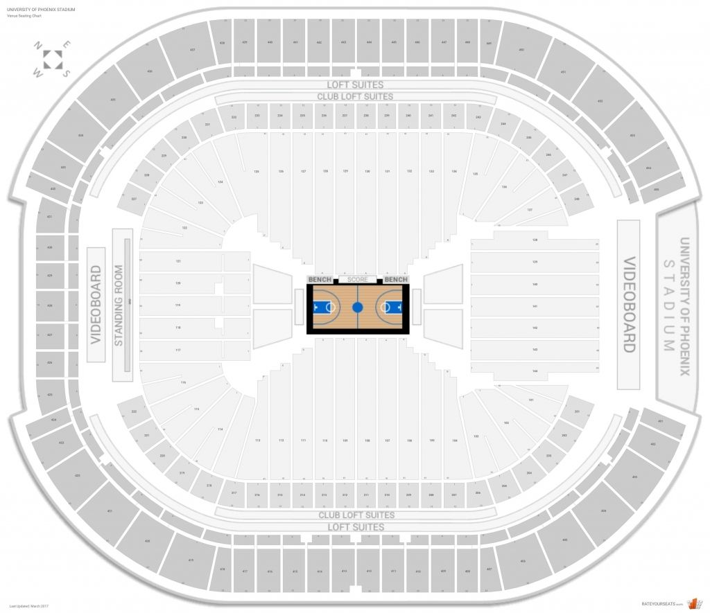 The Most Awesome University Of Phoenix Stadium Concert Seating Chart With Seat Numbers University Of Phoenix Stadium Seating Charts Stadium