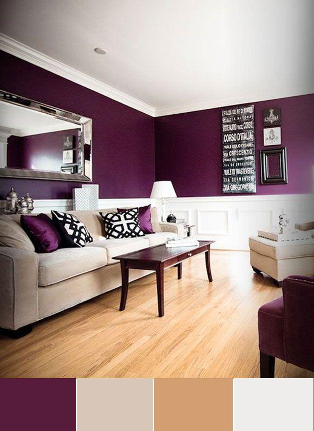 40 Combinaciones De Colores Para Pintar Un Salon Mil Ideas De Decoracion Decoracion De Interiores Colores De Interiores Casa Morada