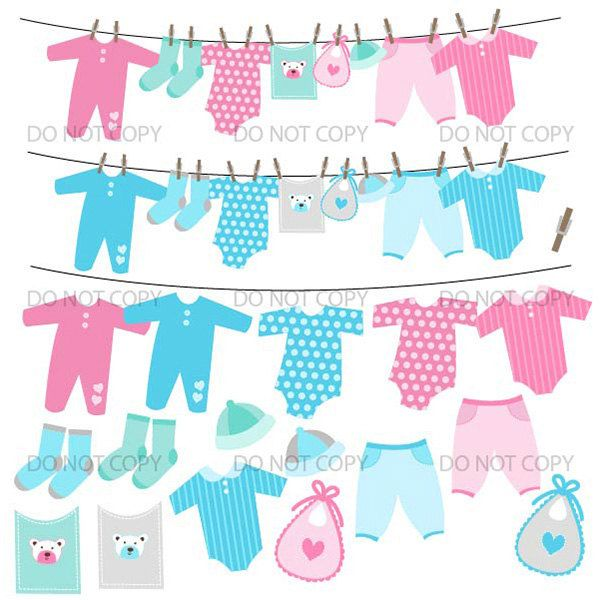 714f1902e Baby Clothesline Clipart