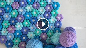 Puff Flower Crochet Pattern You Need To Learn | CrochetBeja #crochetflowers
