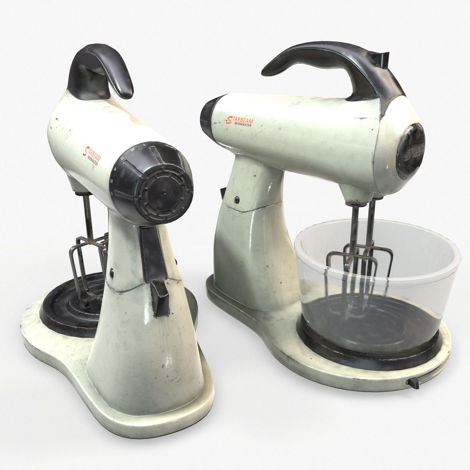 Blender Mixer Kitchen Appliance Low Poly Game Ready 3D