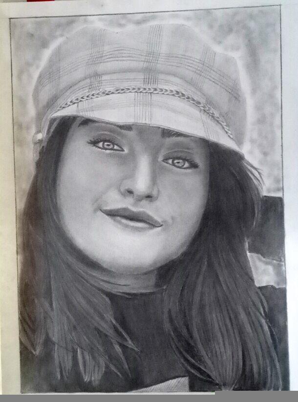 portrait de ines abdelli  #art #illustation #dessin #draw #portrait #drawing #algerian #ines #abdelli