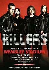 The Killers - Wembley tour poster